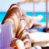 пляжные ноги