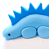 stock - cupcake stegosaurus