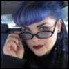 Blue Sunglasses & Hair