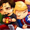 avengers tony/steve sleep