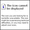 Icon cannot be displayed