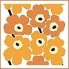 Marimekko_рыжие цветы