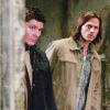Sam and Dean peering