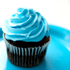 the silver lady: blue choco cupcake by cifan70