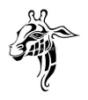 giraffe head tribal