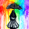 Kiwi Crocus: Rainbow || Dark umbrella.
