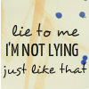 Her Hamsterness: Demon's Lexicon -- lie to me