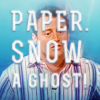 Joey paper snow a ghost