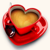 kittylefish: heart coffee