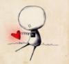 человечек с вынутым сердцем
