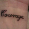 courage, tattoo