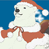 Polar Bear (Santa Hat 3)