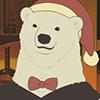 Polar Bear (Santa Hat 2)