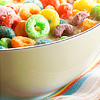 Stock-bowl of fruit loops