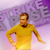 Star Trek Captain Kirk strike a pose