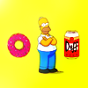 donut homer duff _ homer;simpsons;tv