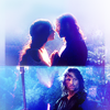 To love an other person is to see the face of God: lotr~ arwen/aragorn kissing in moonlight