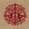 cross stitch: birdy