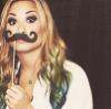 demi mustache