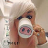 blond girl drinking