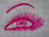 розовый глаз