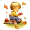 мальчик на книжках
