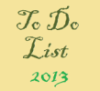 to do list 2013