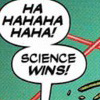 science wins, science, word balloons, haha