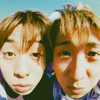 peaches in the creases of a plastic bag: je: yama pair