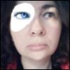 одноглазая Jane с голубым глазом