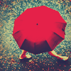 Red umbrella by querita