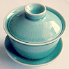 Blue Chinese pot by vucubcaquix