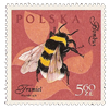 Polish bee stamp by longina
