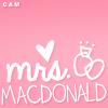 ع١٥٧, Christie.: us» mrs. macdonald