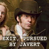 exit pursued by javert
