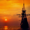 sunset ship