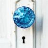 blue door knob
