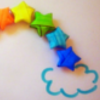 candy rainbow cloud