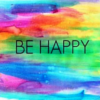Be Happy rainbow