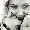 inkvoices: avengers:sjohansson smile black&white