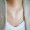 necklace&grey cardigan