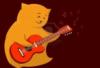Котейка с гитаркой.