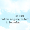 No love no glory