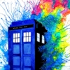 TARDIS rainbow explosion
