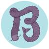 фиолетовая В