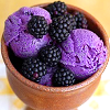 blackberry ice cream by wild_plums