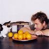 Ewan McGregor // kitty stare-down