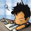 SGA: John chibi writing