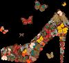 туфелька и бабочка