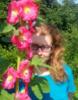 Маша и цветы:)